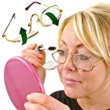 ClearVision Flip Up Magnifier Glasses / Spectacles / Lenses For Applying Make-Up - With FREE Storage Pouch - 3x (300%) Magnifying Power