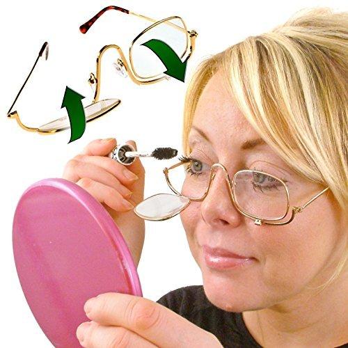 Flip Up Lupenbrille / Brille / Kontaktlinsen für die Anwendung Make-Up - Aufbewahrungsetui - 3x (300%) Vergrößerung