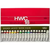 Holbein W403 Watercolor 5 ml., 18 Tubes