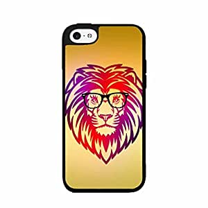 Geek Lion in Glasses Plastic Phone Case Back Cover iPhone 4 4s
