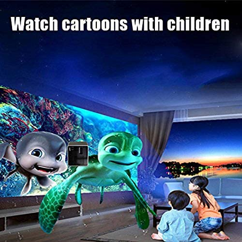 2019 Mini Cube Projector DLP 1080P HD Home Cinema and Outdoor Entertainment Projectors for Smartphone Laptop Tablet JIEHED HD Projector 1xMini Projector,1xUSB Cable,1xUser Manual