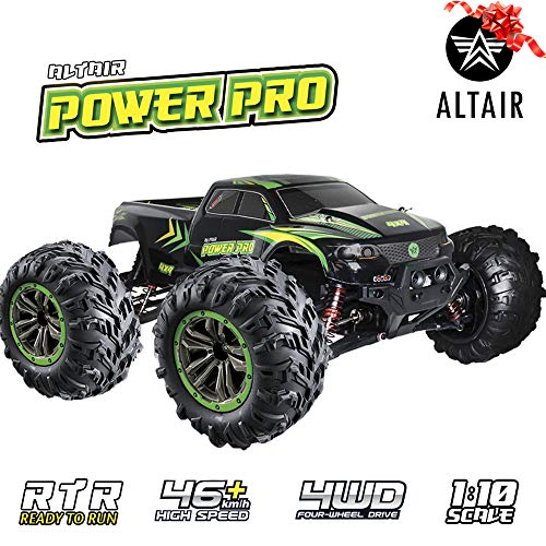 Altair Fast Remote Control Truck 4x4 (48km/h 30MPH) - 1:10 Scale Large Vehicle, Radio Controlled Off-Road 4x4 Electric Monster Truck, R/C Hobby Grade Rock Crawler RC Car (Lincoln, NE, USA Company) (Trail Rc Truck 6x6)