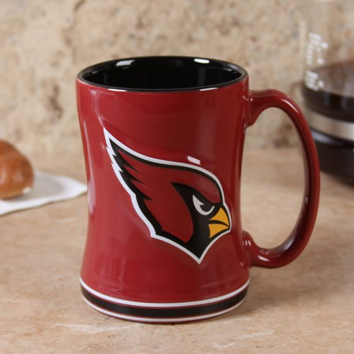 NFL Sculpted Coffee Mug, 14  Ounces, Arizona (Cardinals Coffee Mug)