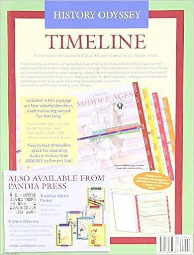 history odyssey timeline kate johnson 9780979849657 amazoncom books