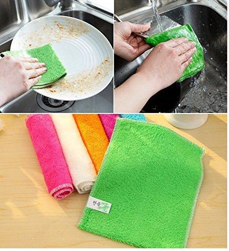 6-pack Bamboo Fiber Dish cloths Kitchen Dish Towels Tea Towels 7\