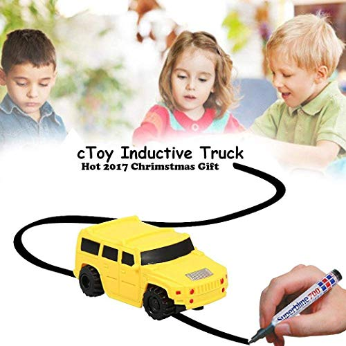 Dickin Children Mini Creative Drawn Line Follow Electric Inductive Toy Car Push & Pull Toys(Only 1 x Car Random Color)