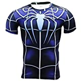 HOCOOL Men's Compression Sports Fitness Shirt Armor,Spider Men Super Heros T-Shirt L