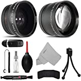 52MM Telephoto 2.2x and Wide Angle w/ Macro Close-Up Attachment Conversion Lens For Nikon D3200, D3300, D3400, D5200, D5300, D5500, D5600, D7200, D90, D300, D300S, D500, D600, D610, D700, D750, DSLR