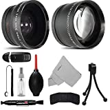 52MM Telephoto 2.2x and Wide Angle w/ Macro Close-Up Attachment Conversion Lens For Nikon D3200, D3300, D3400, D5200, D5300, D5500, D5600, D7200, D90, D300, D300S, D500, D600, D610, D700, D750, DSLR