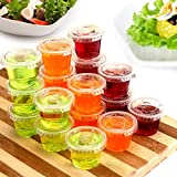 TashiBox 100 Sets Plastic Disposable Jello Shot