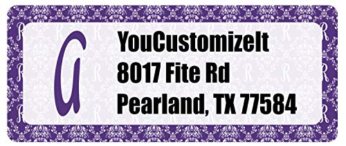 - Initial Damask Return Address Labels (Personalized)