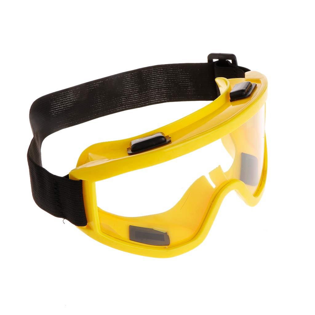 Verstellbarer Kopfgurt Industrielle Arbeiterforschung Radfahren Reiten Zchenchen Spritzschutzbrille Schutzbrille Augenschutz mit klarem Gl/äser