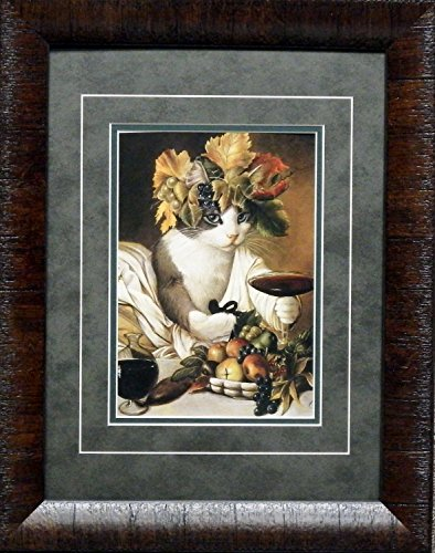 Melinda Copper Widget as Bacchus Cat Print-Framed