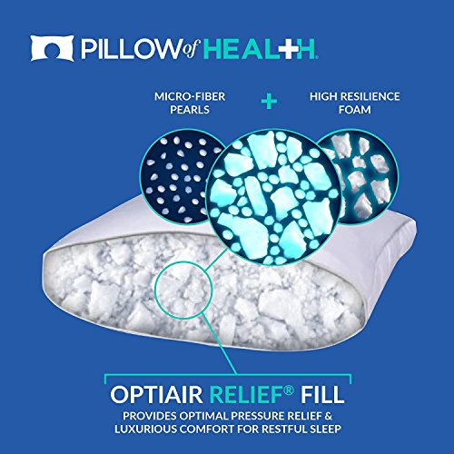PILLOW of HEALTH | Luxury, Customizable, Therapeutic Pillow For Better Sleep | Patented Adjustable Design | Antimicrobial, Hypoallergenic, Dust Mite Resistant | Made in America - King 2 Pack by The Pillow of Health (Image #2)