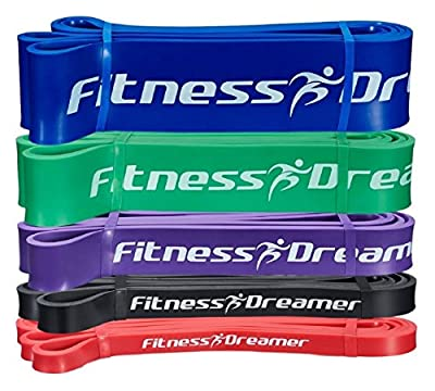 """Fitness Dreamer 41"""" Pull Up Assist Band, Stretch Resistance Band Set - Mobility Bands - Powerlifting Bands - Resistance Bands - Physical Therapy Recovery Tool Bands. Best Quality at the Lowest Price"""