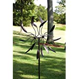Evergreen Garden Twirler Powder Coated Metal Kinetic Wind Spinner   24u201dW X 6