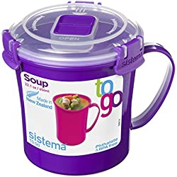 Sistema 21107 Klip It To Go Soup Mug, Multicolor