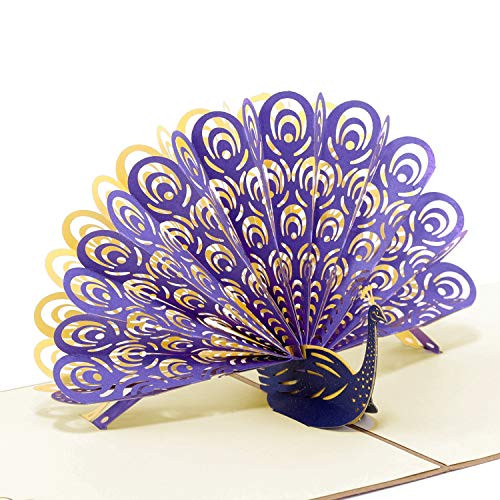 Paper Spiritz Peacock, Pop up Cards Birthday, MotherS Day Card, 3D Thank You Cards all Occasion, Anniversary for Mommy kids Wife Husband, Handmade Gift Cards