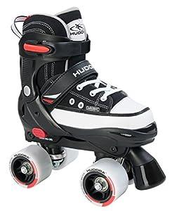 Hudora Jungen Rollschuhe Roller Skate, schwarz, verstellbar Gr. 36-39,...
