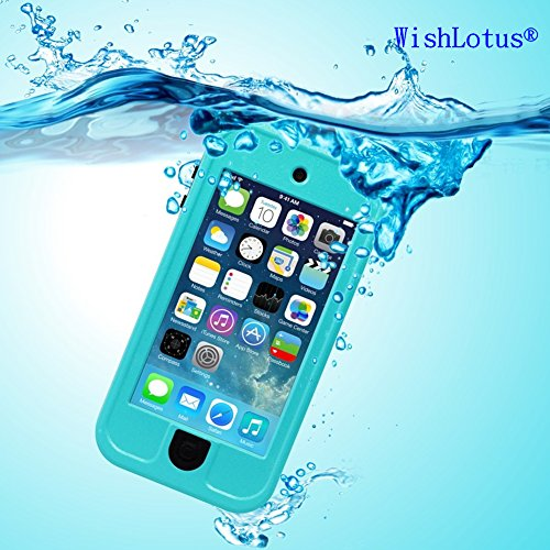 IPod Touch 6 Waterproof Case,IPod Touch 5 Waterproof Case,WishLotus® Waterproof Shockproof Dust Proof Snow Proof Touch Sensitive Case Cover for Touch 6/5 for Swimming Diving Outdoor Sports (Blue)