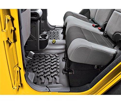 Bestop Rear Floor Liner for Jeep 07-17 Wrangler Unlimited (2015 Jeep Wrangler Sahara Unlimited Tire Size)