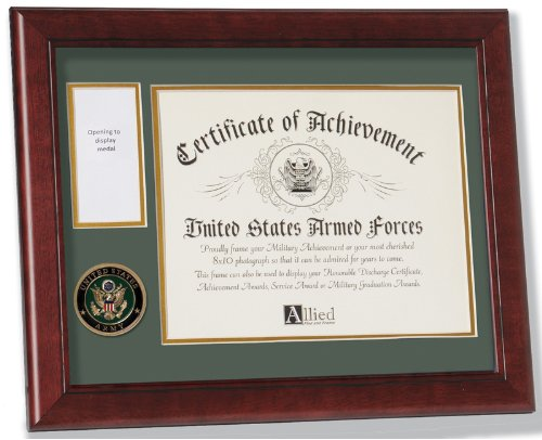 Allied Frame United States Army Medal and Award (Military Certificate)