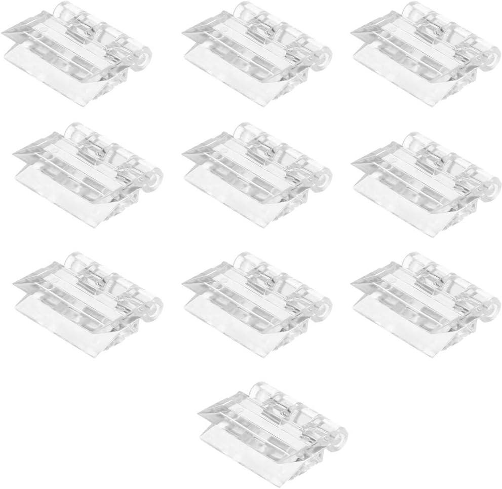 Zonfer 10pcs Acr/ílico Bisagra Bisagras Transparentes Plegables Acr/ílico Durable Herramientas Acr/ílico Bisagra Metacrilato Transparente Bisagra Plegable Accesoria De Los Muebles Peque/ño