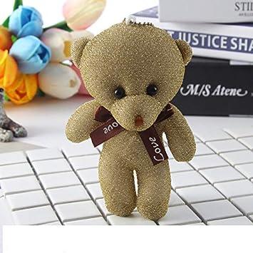 Amazon.com: PKRISD - Llavero de peluche con diseño de oso de ...