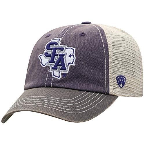 Top of the World Men's Relaxed Fit Adjustable Mesh Offroad Hat Team Color Icon, Stephen F. Austin Lumberjacks Purple