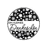 BUTTERER Rayher 28891000 Stamp Dankeschön (Thank You) - 3 cm Diameter