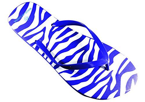 Blue Pour Tongs Femme Design Octave Zebra gFXWvwwqP