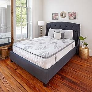 Classic Brands Mercer Pillow Top Cool Gel Memory Foam and Innerspring Hybrid 12-Inch Mattress, Queen