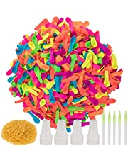 ABEY 1200 Pieces Water Balloons Refill Kits Quick & Easy Latex Water Bomb Balloons for Water Fight Games, Swimming Pool Party Summer Splash Fun
