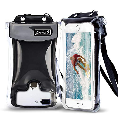 2018 Universal Waterproof Case Floating, Cellphone Dry Bag Pouch for iPhone X, 8/7/7 Plus/6S/6/6S Plus, Samsung Galaxy S9/S9 Plus/S8/S8 Plus/Note 8 6 5 4, Google Pixel 2 HTC/LG/Sony/Moto(Black)