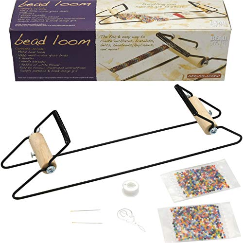 Beadsmith BLM5 Bead Loom Kit for Beginners, Includes Weave, Necklaces, Bracelets and More