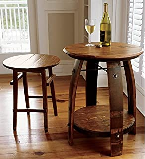Orvis Wine Barrel Stave Table / Only Small Table, Small