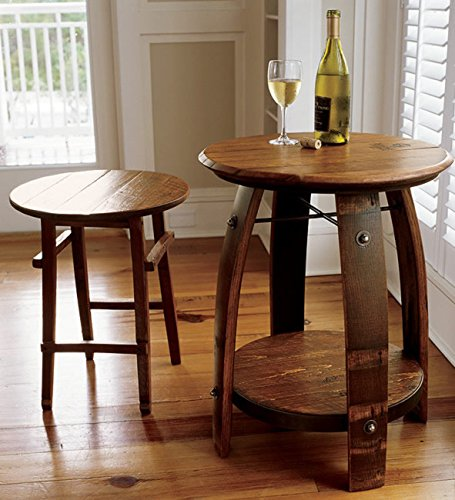Orvis Wine Barrel Stave Table/Only Small Table, Small (Barrel Stave Furniture)