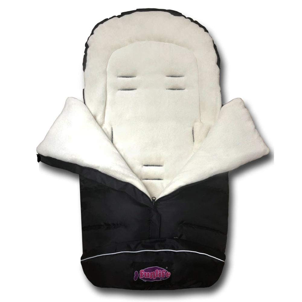 German Designed Stroller Footmuff, 5 Way Zippers Style For Baby Easy In&Out Height Adjustable