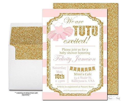 Pink and Gold Tutu Baby Shower Invitatio - Elegant Baby Shower Invitations Shopping Results