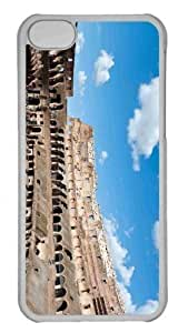 Customized iphone 5C PC Transparent Case - Colosseum Personalized Cover