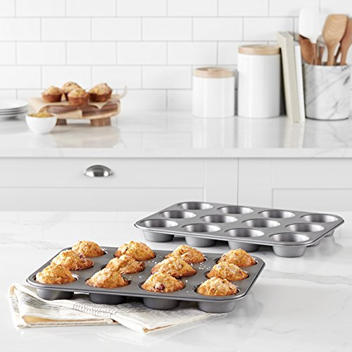 AmazonBasics Nonstick Carbon Steel Muffin Pan - 2-Pack by AmazonBasics (Image #1)