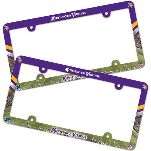 Wincraft Minnesota Vikings License Plate Frames 2Pk ()