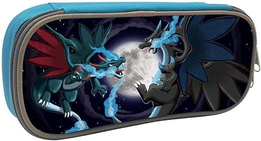 Anime Pokemon Charizard - Estuche escolar para estudiantes y niños, azul, ONE_SIZE: Amazon.es: Amazon.es