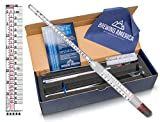 Thermo Hydrometer Brew Test Kit: Pro Series Triple Scale Thermo-Hydrometer N.I.S.T. Traceable & Glass Test Tube Jar