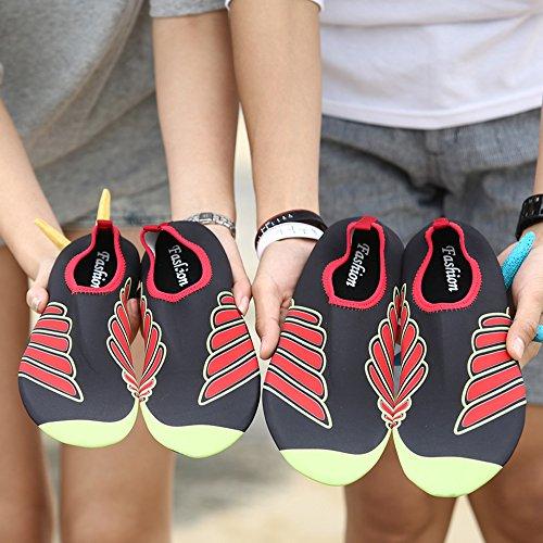 Schwimmen Schuhe Surf Herren Strand Barfuß 3 Für Unisex Shoes Yoga Damen Wasser Rot Aqua Jackshibo ZIwqvPUv