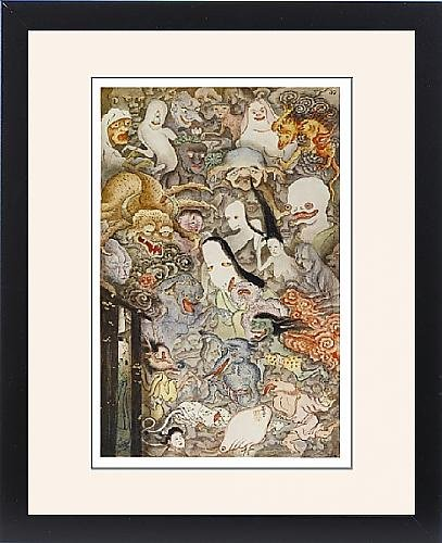 Framed Print Of Japan Ghost Procession by Prints Prints Prints