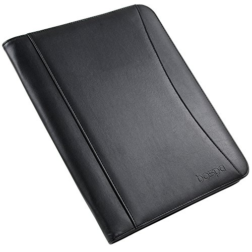 Bospa Padfolio Portfolio Folder/Multi function folder /Business Folder with Zippered Closure and Professional Leather