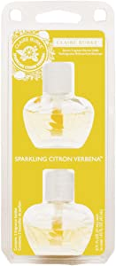 Claire Burke Plug Scented Oil Refills for Home and Bathroom, Sparkling Citron Verbena, 1.42 Oz, 2 Count
