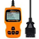 Code Reader AQV OBDMATE OM123 OBD2 Scanner Check Engine Light Car Vehicle Auto Diagnostic Scanner for Car Trouble Codes for Most 1999 Compliant US, European and Asian Vehicles(Orange)