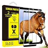 Yoyamo GT814 [2-Pack] Tempered Glass Screen Protector for Samsung Galaxy Note 8 [Full Screen Coverage] Anti-Scratch, 3D Curved, Bubble Free [Black]